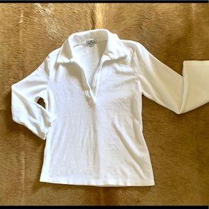 James Perse cotton velour top